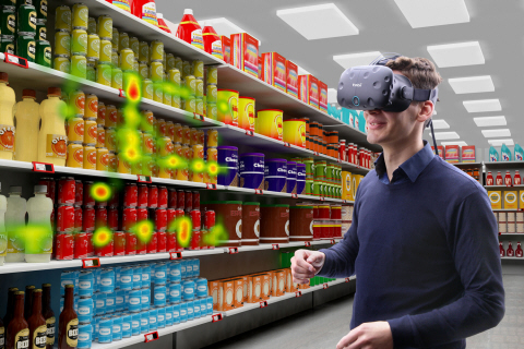 Shopper research with Tobii Pro VR Integration based on HTC Vive