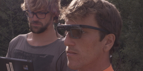 Calibrating a professional surfer prior in situ eye tracking test with Tobii Pro Glasses 2.