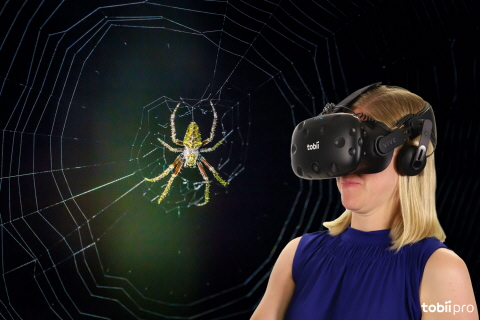 Tobii Pro Lab VR 360 used to study and treat arachnophobia