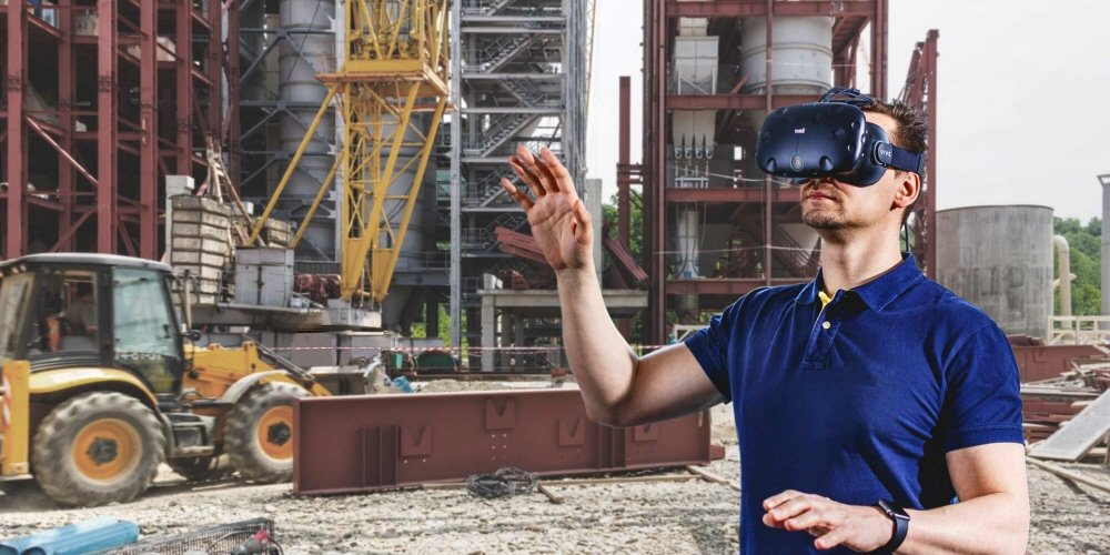 Tobii eye tracking integrated HTC Vive for safe trainings at construction sites