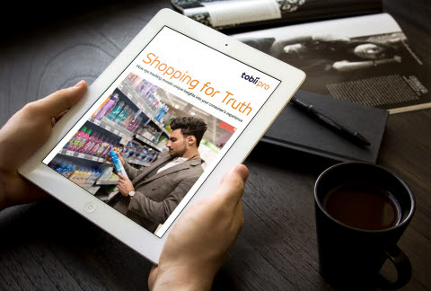 Tobii Pro Shopping for truth report on a tablet