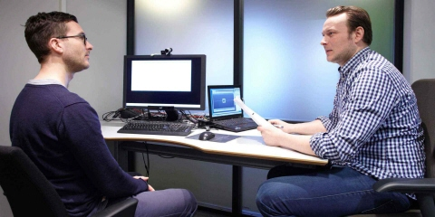 A usability test using Tobii Pro eye trackers run at Bouvet.