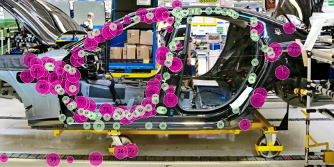 Expert VS novice gazeplot comparison in the car assembly line