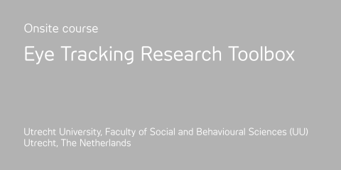 Eye tracking research toolbox course