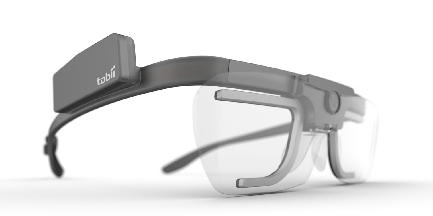 A close up image of Tobii Pro Glasses 2.