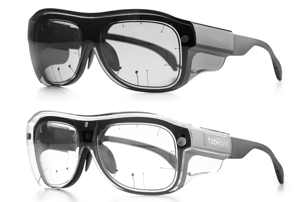 Tobii Pro Glasses 3 with clear and tinted safety lenses