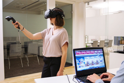 Tobii Pro VR Analytics for package design testing in VR