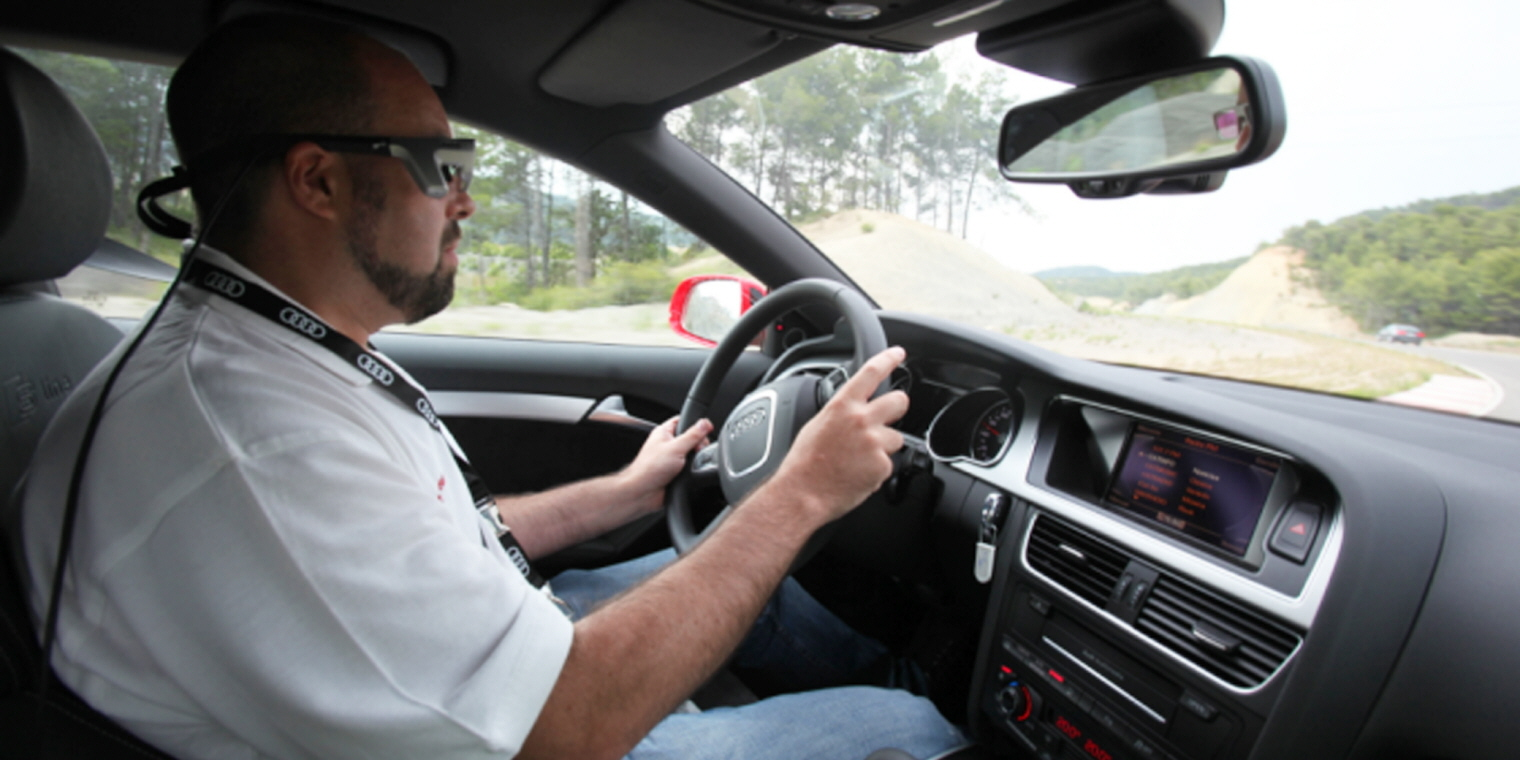 Tobii Pro Wearable Eye Tracking For Driver Safety - Audi car and driver