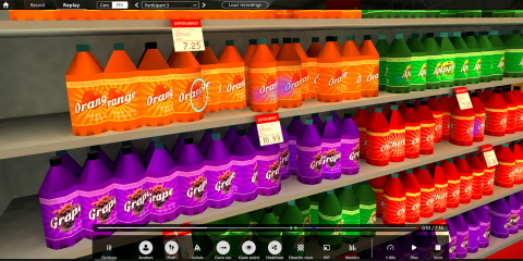 VR eye tracking supermarket