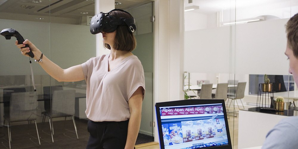 Tobii Pro VR Analytics is used for consumer journey testing with eye tracking in VR environments