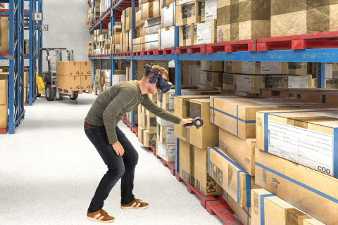 Tobii Pro VR Analytics and HTC VIVE Pro Eye for logistics operations training