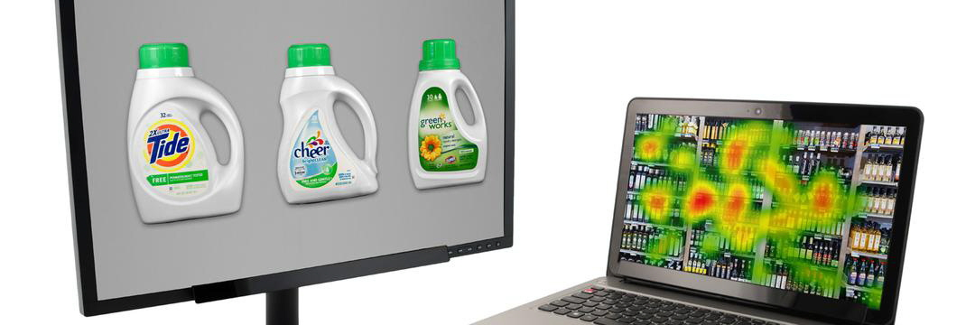 Eye tracking study detergent and oil and heatmap