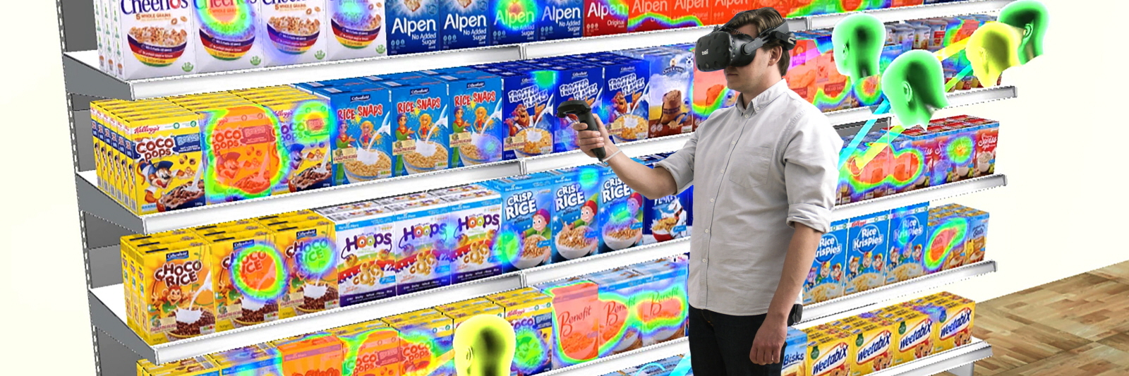 VR eye tracking supermarket headset