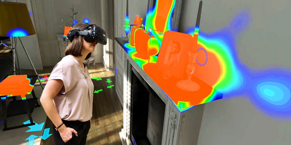 Tobii Pro VR Analytics for eye tracking studies in virtual 3D environments