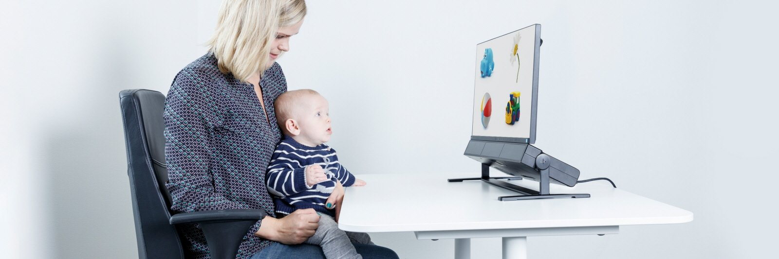 Tobii Pro spectrum eye tracker is used for a developmental research